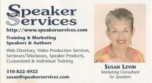 Susan Levin - Speaker Services Business Card