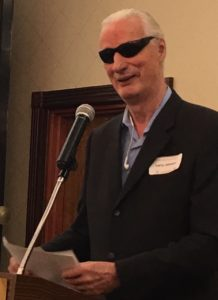 Larry P. Johnson, totally blind motivational speaker, challenges and inspires audiences to face life with optimism, perseverance and humor, and to never give up on their dreams.