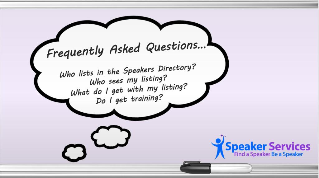 FAQ - Speaker Services Directory