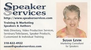 Susan Levin - Speaker Services Business Card